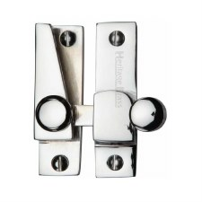 Heritage Hook Plate Sash Fastener V1105 Polished Chrome