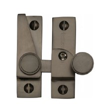 Heritage Hook Plate Sash Fastener V1106L Lockable Matt Bronze