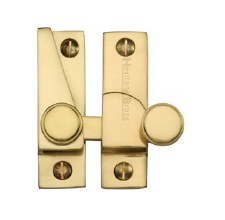 Heritage Hook Plate Sash Fastener V1106 Polished Brass