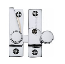 Heritage Hook Plate Sash Fastener V1106L Lockable Polished Chrome