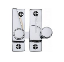 Heritage Hook Plate Sash Fastener V1106 Polished Chrome