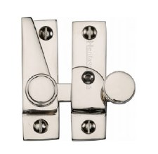 Heritage Hook Plate Sash Fastener V1106L Lockable Polished Nickel