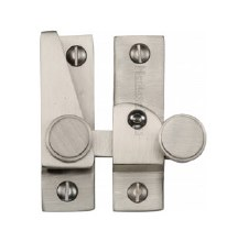 Heritage Hook Plate Sash Fastener V1106L Lockable Satin Nickel