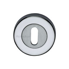 Heritage V4000 Escutcheon Satin & Polished Chrome