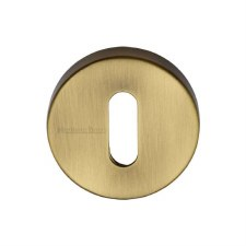 Heritage V4007 Escutcheon Antique Brass Lacquered