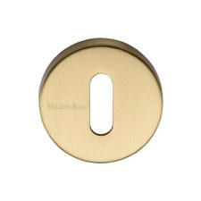 Heritage V4007 Escutcheon Satin Brass Lacquered