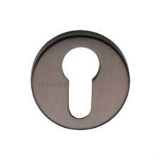 Heritage V4008 Euro Profile Escutcheon Matt Bronze Lacquered