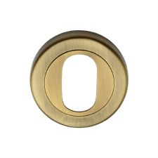 Heritage V4010 Oval Profile Escutcheon Antique Brass Lacquered