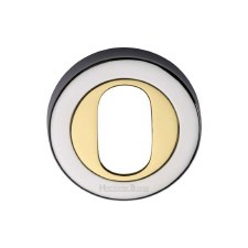 Heritage V4010 Oval Profile Escutcheon Pol Chrome & Pol Brass