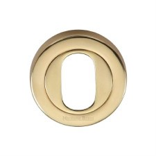 Heritage V4010 Oval Profile Escutcheon Polished Brass Lacquered