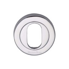 Heritage V4010 Oval Profile Escutcheon Polished Chrome