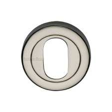 Heritage V4010 Oval Profile Escutcheon Polished Nickel