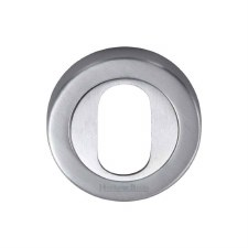Heritage V4010 Oval Profile Escutcheon Satin Chrome