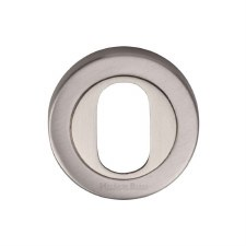 Heritage V4010 Oval Profile Escutcheon Satin Nickel