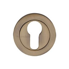 Heritage V4020 Euro Profile Escutcheon Antique Brass Lacquered