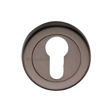 Heritage V4020 Euro Profile Escutcheon Matt Bronze Lacquered