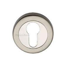 Heritage V4020 Euro Profile Escutcheon Satin & Polished Nickel