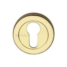 Heritage V4020 Euro Profile Escutcheon Polished Brass Lacquered