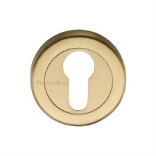 Heritage V4020 Euro Profile Escutcheon Satin Brass Lacquered