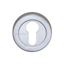 Heritage V4020 Euro Profile Escutcheon Satin Chrome