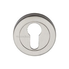Heritage V4020 Euro Profile Escutcheon Satin Nickel