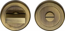 Heritage V4035 Bathroom Thumb Turn & Release Antique Brass Lacquered