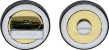 Heritage V4035 Bathroom Thumb Turn & Release Pol Chrome & Pol Brass