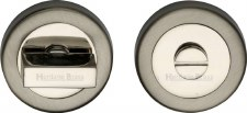 Heritage V4035 Bathroom Thumb Turn & Release Satin & Polished Nickel