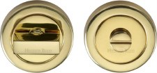 Heritage V4035 Bathroom Thumb Turn & Release Polished Brass Lacquered