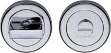 Heritage V4035 Bathroom Thumb Turn & Release Polished Chrome