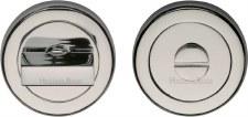 Heritage V4035 Bathroom Thumb Turn & Release Polished Nickel