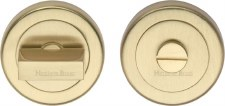 Heritage V4035 Bathroom Thumb Turn & Release Satin Brass Lacquered