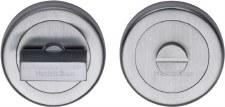 Heritage V4035 Bathroom Thumb Turn & Release Satin Chrome