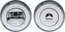 Heritage V4040 Bathroom Thumb Turn & Release Polished Chrome