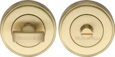 Heritage V4040 Bathroom Thumb Turn & Release Satin Brass Lacquered
