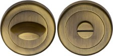 Heritage V4043 Bathroom Thumb Turn & Release Antique Brass Lacquered