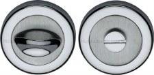 Heritage V4043 Bathroom Thumb Turn & Release Satin & Polished Chrome