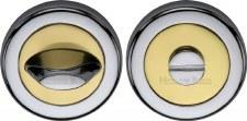 Heritage V4043 Bathroom Thumb Turn & Release Pol Chrome & Pol Brass