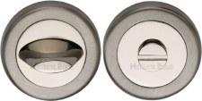 Heritage V4043 Bathroom Thumb Turn & Release Satin & Polished Nickel