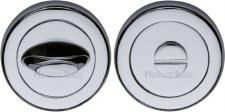 Heritage V4043 Bathroom Thumb Turn & Release Polished Chrome