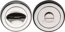 Heritage V4043 Bathroom Thumb Turn & Release Polished Nickel
