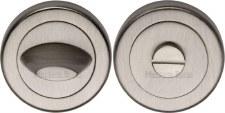 Heritage V4043 Bathroom Thumb Turn & Release Satin Nickel