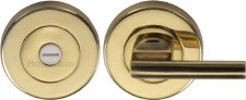 Heritage V4044 Bathroom Thumb Turn & Release Polished Brass Lacquered