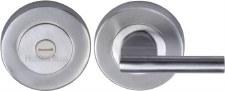 Heritage V4044 Bathroom Thumb Turn & Release Satin Chrome