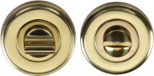 Heritage V4045 Bathroom Thumb Turn & Release Polished Brass Lacquered