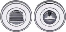Heritage V4045 Bathroom Thumb Turn & Release Polished Chrome