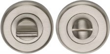 Heritage V4045 Bathroom Thumb Turn & Release Satin Nickel