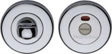 Heritage V4046 Indicator Bathroom Thumb Turn & Release Polished Chrome