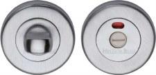 Heritage V4046 Indicator Bathroom Thumb Turn & Release Satin Chrome