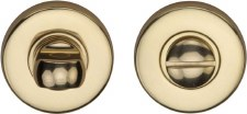 Heritage V4049 Bathroom Thumb Turn & Release Polished Brass Lacquered